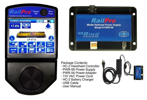 RPK-1 RailPro Starter Kit with Wireless Color Touchscreen Handheld Controller and Power Supply