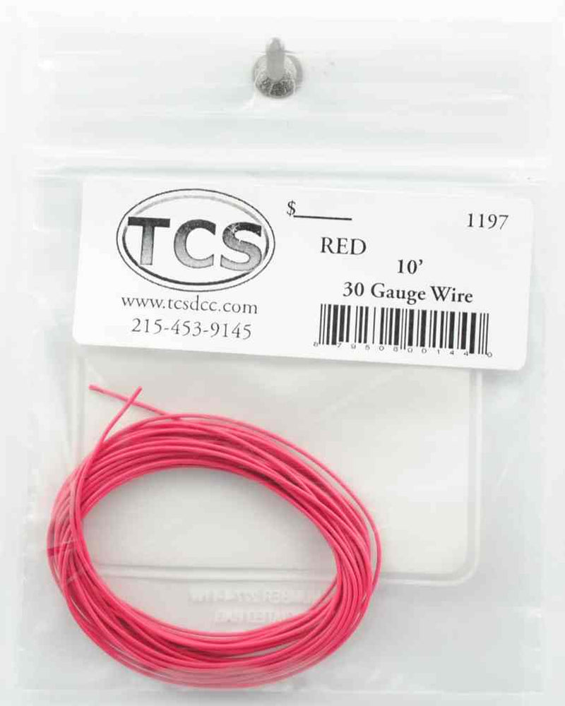 10ft 30awg – Red - Squeaky's Trains & Things