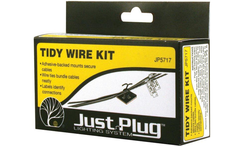 Woodland Scenics JP5717 - Just Plug Lighting System - Tidy Wire Kit.