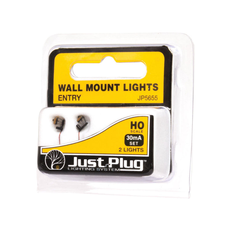 Woodland Scenics 5655 | Just Plug Lighting System | Entry Wall Mount Lights | HO Scale