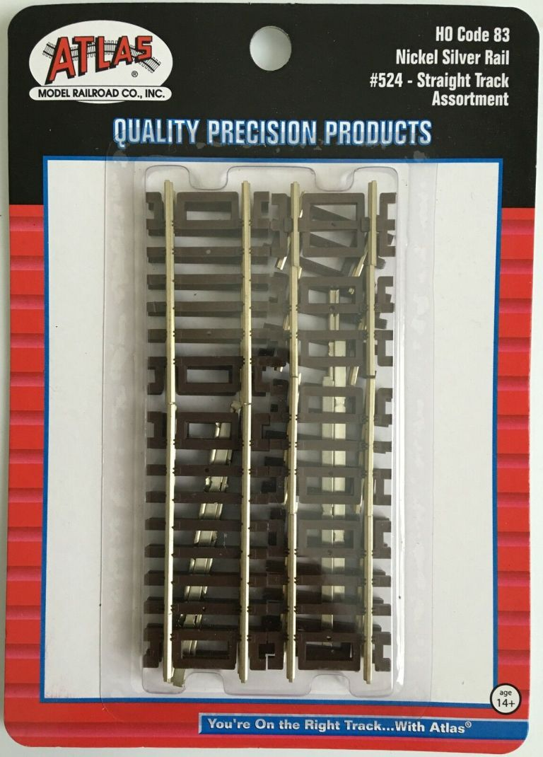 Code 83 Straight Track Assortment (10 Pack) | Nickel Silver Rail |