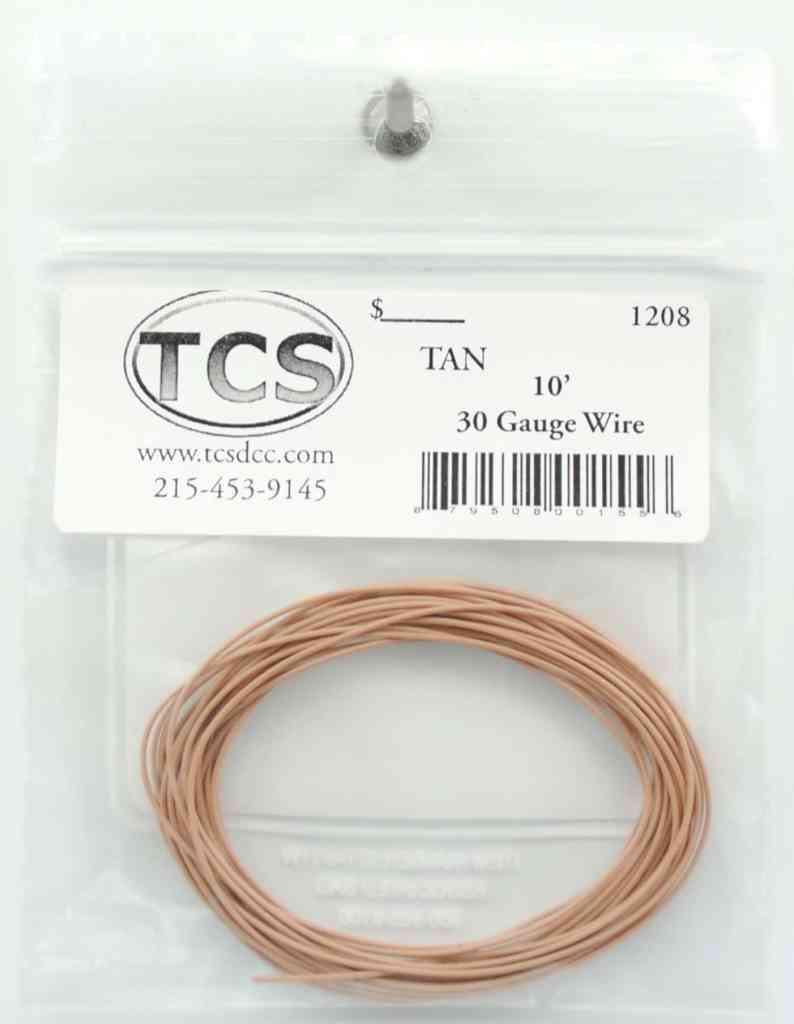 10ft 30awg – Tan - Squeaky's Trains & Things