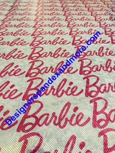 Barbie Holographic Designer Inspired Fabric [designer spandex and more]