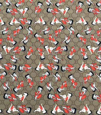 [ Gucci Betty Boop Designer inspired fabrics [Designer Spandex and More]