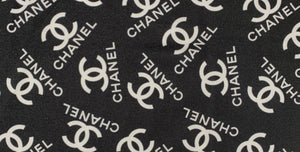 [chanel black and white lycra frabric] - [Designer Spandex and More]