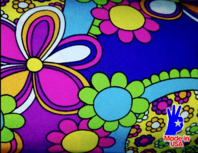 [Groovy Flower Fabric] - [Designer Spandex and More]