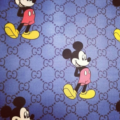 Gucci Designer Inspired fabric Blue Micky [designer spandex and more]