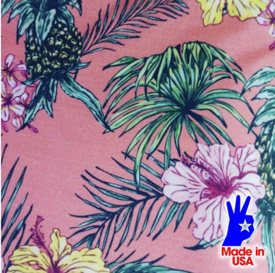 [Tropical Floral Fabric] - [Designer Spandex and More]