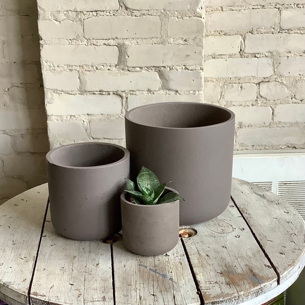 Concrete Pot Charcoal