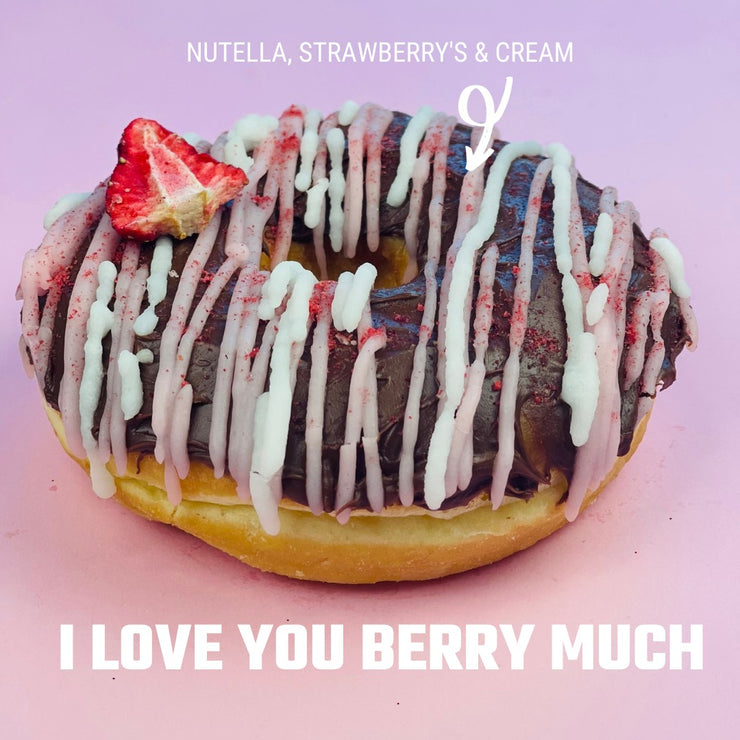 Nutella, Strawberry & Cream Doughnut Mothers Day