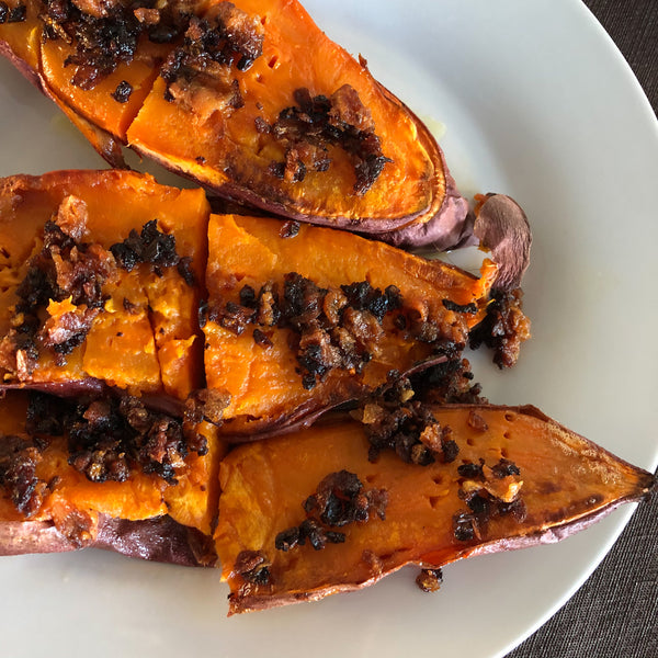 Fall Recipe: Kyoto Style Sweet Potatoes with Miso!