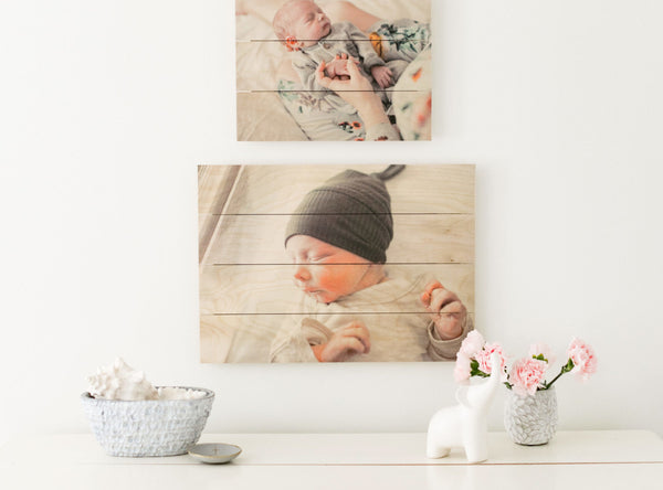 Photo print on palette by Photo Barn