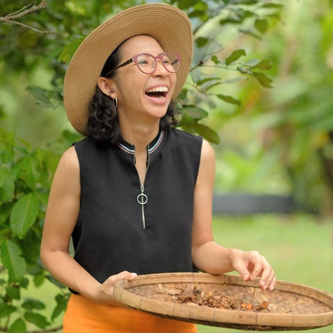 Chef Mae on her farm in Chiang Mai, Thailand