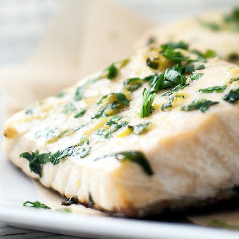 Fish with truffle oil