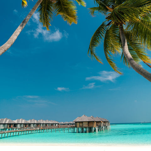 Maldives bungalow over the water