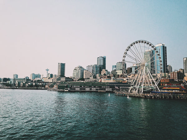 Seattle waterfront with Ferris Wheel