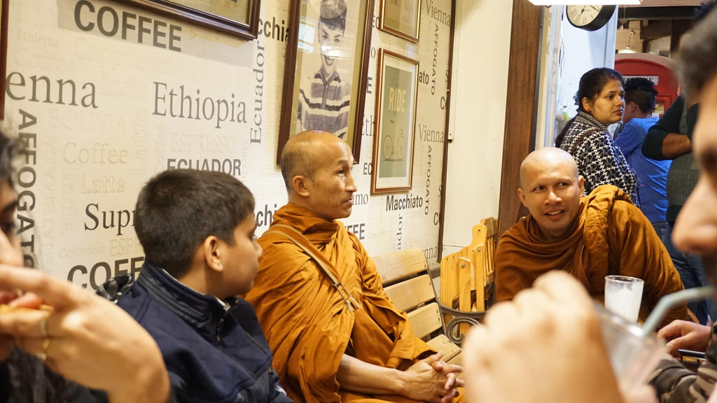 Monks chatting in Chiang Mai