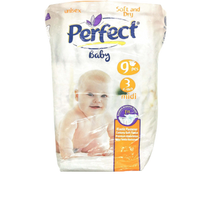 Perfect Baby Unisex Diapers - 3 Midi 4-9 Kg