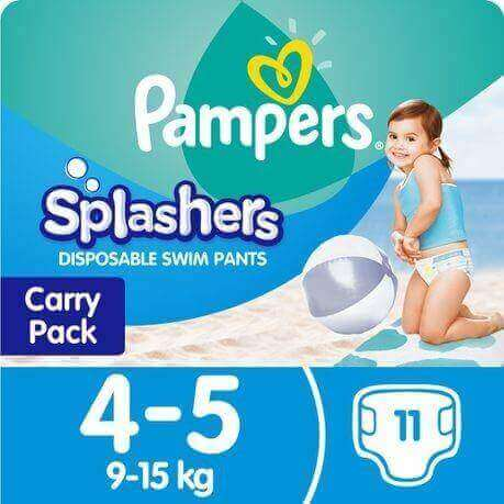 Pampers Splashers Disposable Swim Pants 4-5 (9-15 Kg)