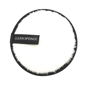 Dual Facial Cleaning Sponge - White