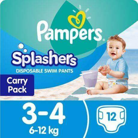 Pampers Splashers Disposable Swim Pants 3-4 (6-12 Kg)
