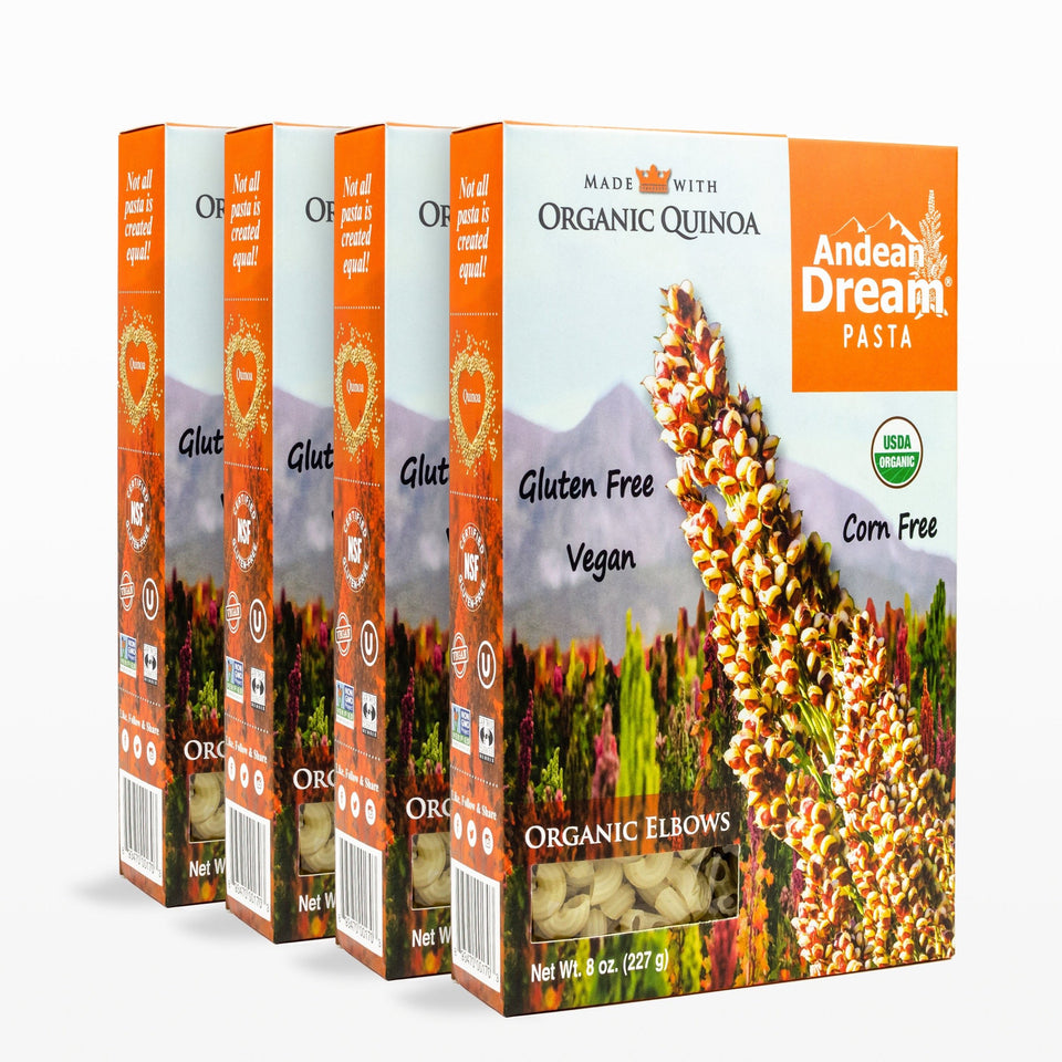 Organic Quinoa Pasta (Elbows) | All Natural, Organic Quinoa | Andean Dream Quinoa Products | Gluten Free, Vegan, Allergen-Friendly (no dairy, eggs, corn, or soy) | Simple ingredients, amazing taste!