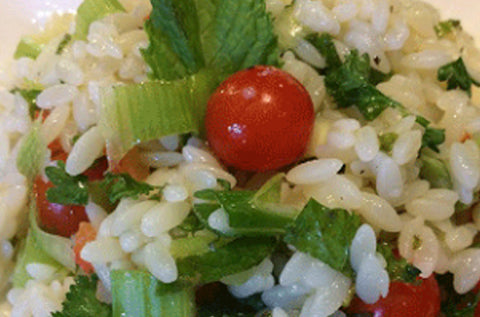 Orzo salad recipes by the Chefs Double Energy Twins, featuring Andean Dream quinoa pasta | Andean Dream Quinoa Products