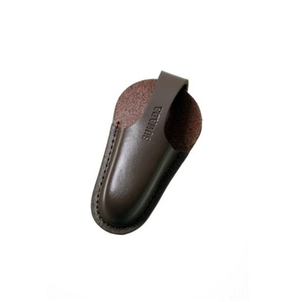 Suwada Soft Model blade cap made of dark brown leather