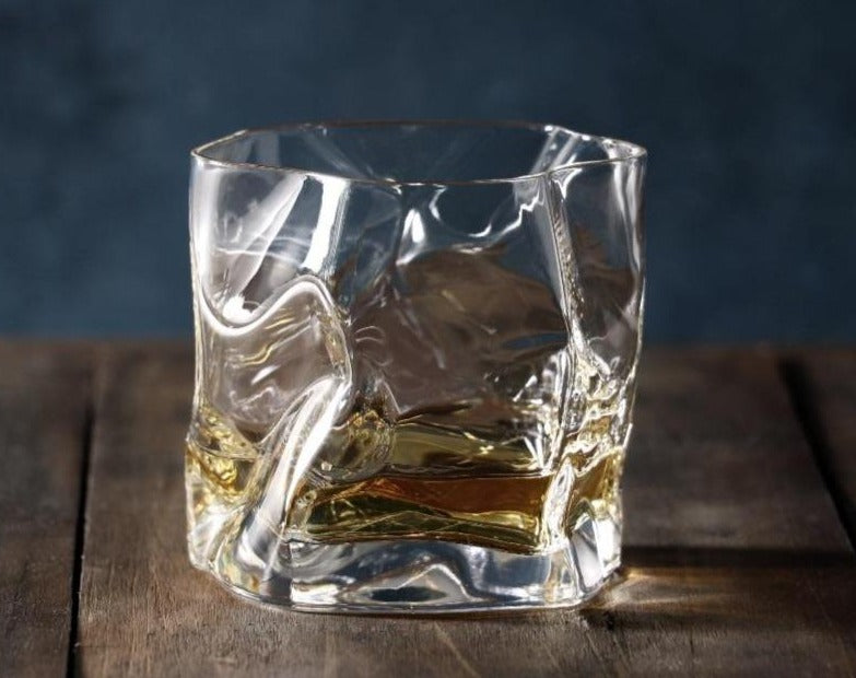 Japanese Handmade Whiskey Glass for gift, that looks like it is wrinkled