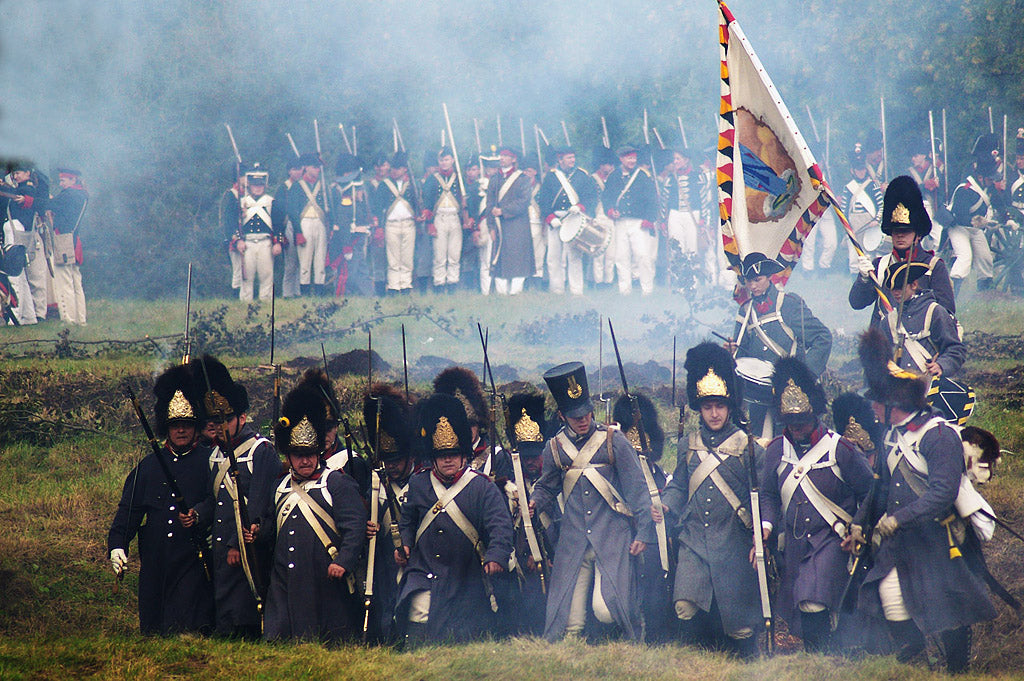 Reconstruction of the battle of Ostroleka 1807.