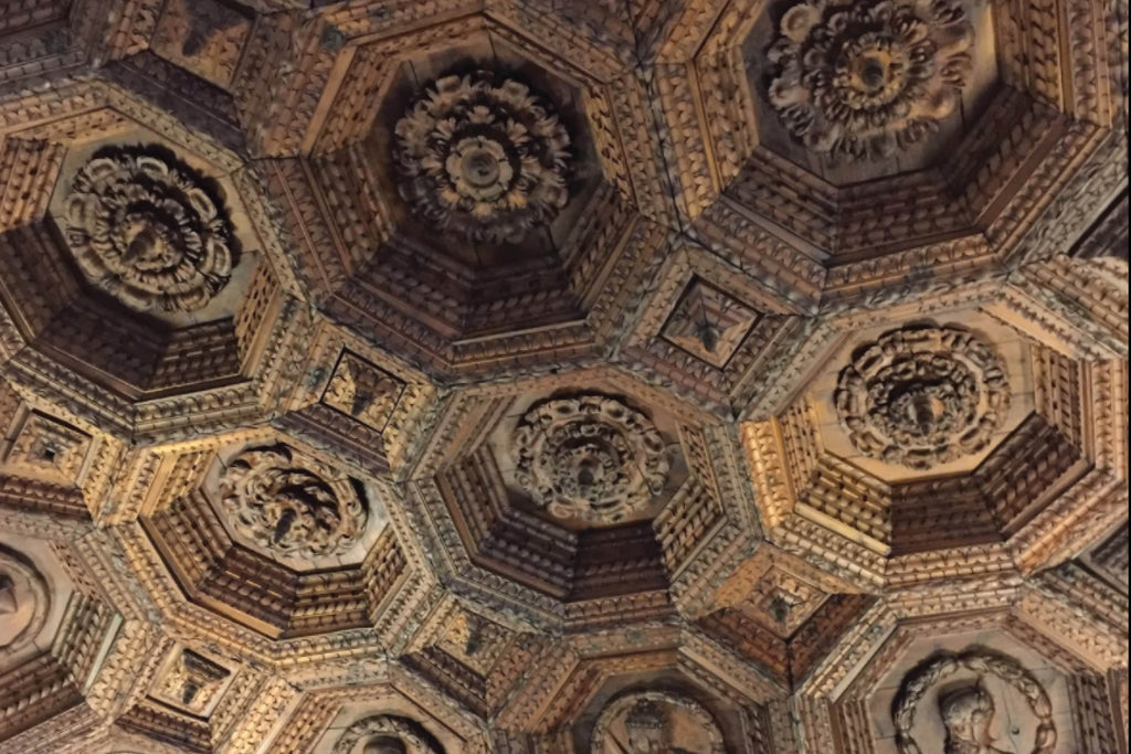 Ceiling at the Santiago monastery in Ucles