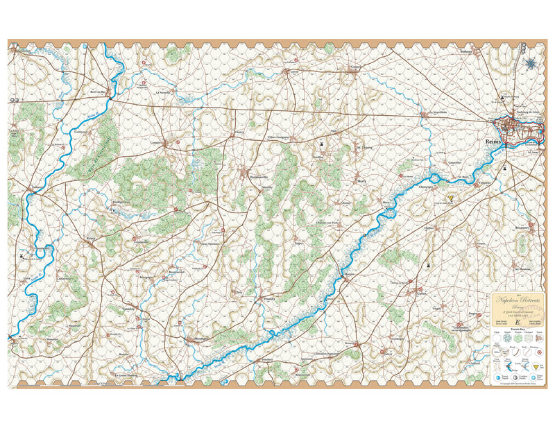 Napoleon Retreats, Reims-E Map