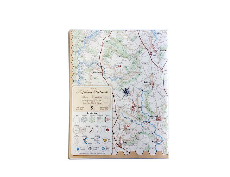 Napoleon Retreats, Laon-S Map