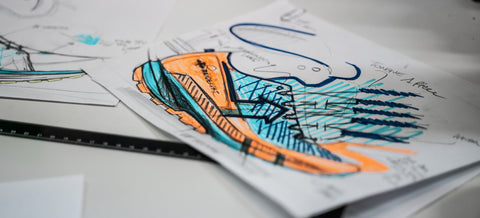 Dessin chaussures trail