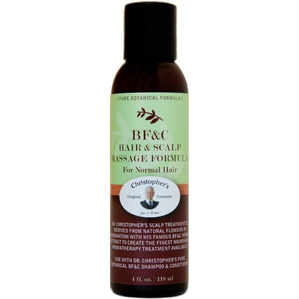 BF&C Hair & Scalp Massage Oil 4 oz. - Christopher's Herb Shop