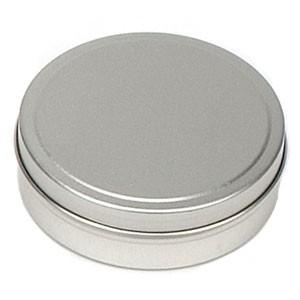 Flat Metal Tin 3 oz - Christopher's Herb Shop
