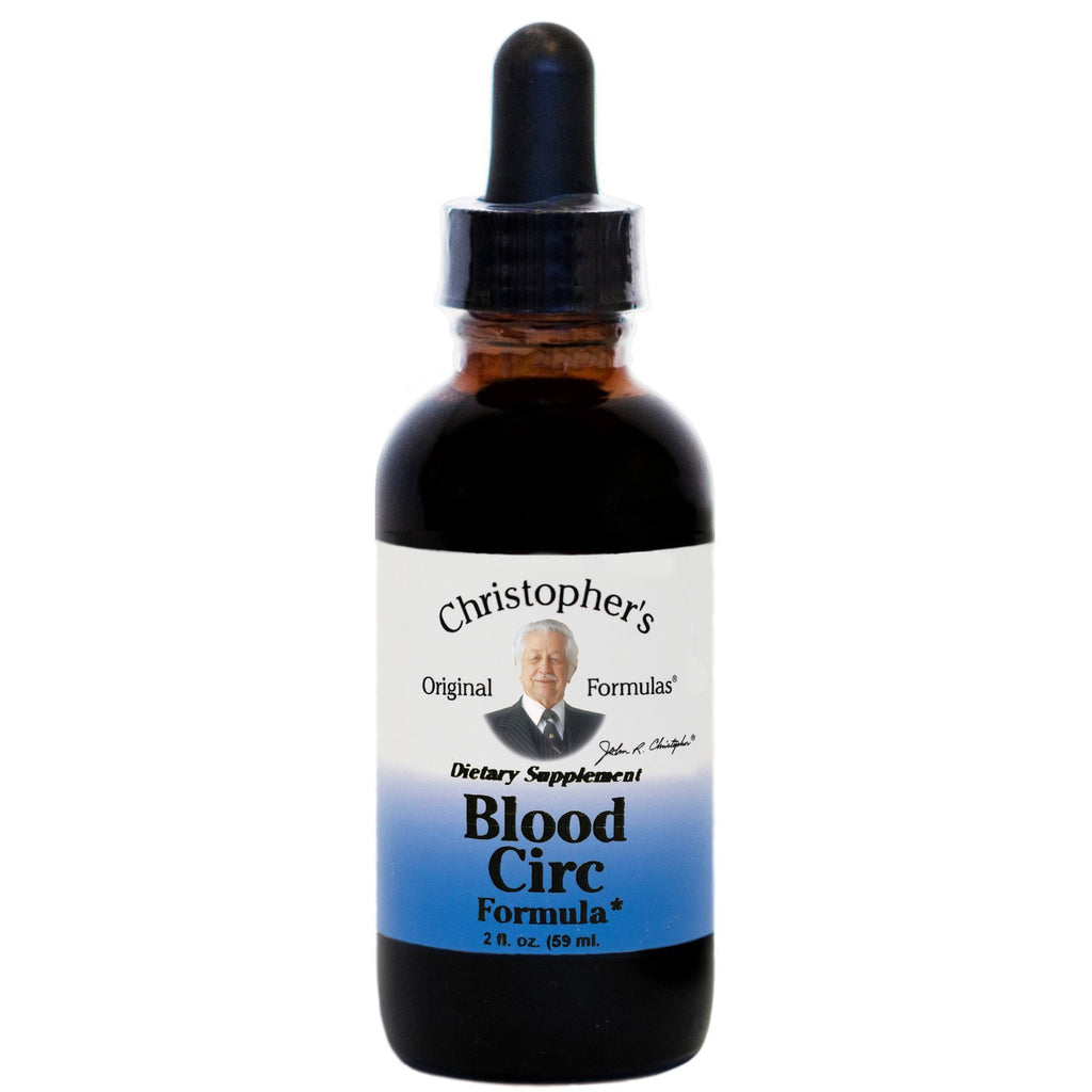 Blood Circ Formula - 2 oz Extract - Christopher's Herb Shop