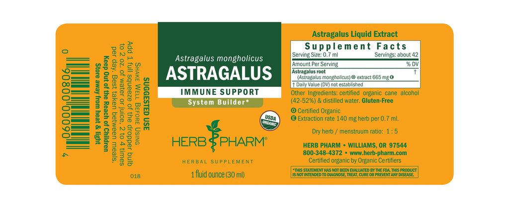 Herb Pharm® Astragalus - 1 oz - Christopher's Herb Shop