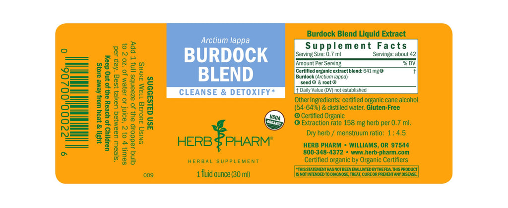 Herb Pharm® Burdock Blend - 1 oz - Christopher's Herb Shop