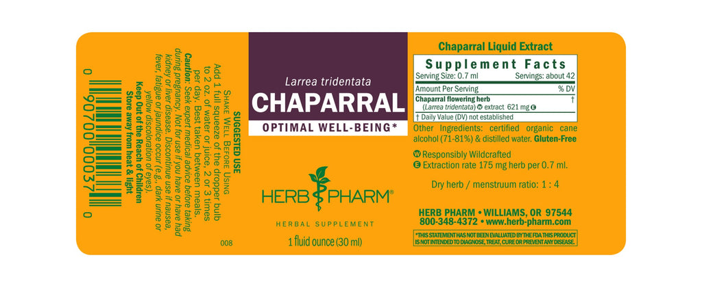 Herb Pharm® Chaparral  - 1 oz - Christopher's Herb Shop