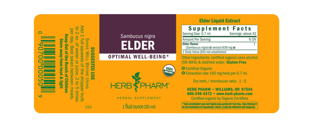 Herb Pharm® Elder - 1 oz - Christopher's Herb Shop