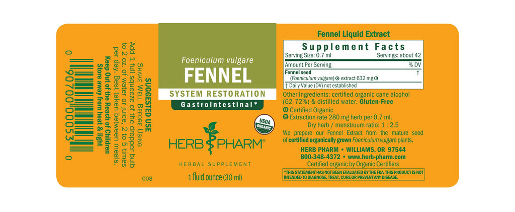 Herb Pharm® Fennel - 1 oz - Christopher's Herb Shop