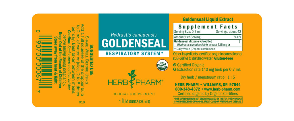 Herb Pharm® Goldenseal - 1 oz - Christopher's Herb Shop