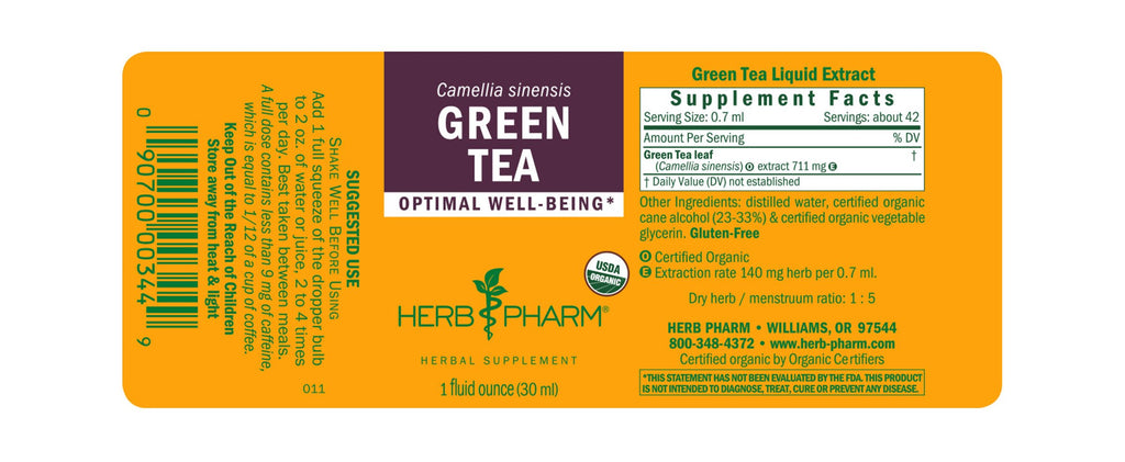 Herb Pharm® Green Tea - 1 oz - Christopher's Herb Shop
