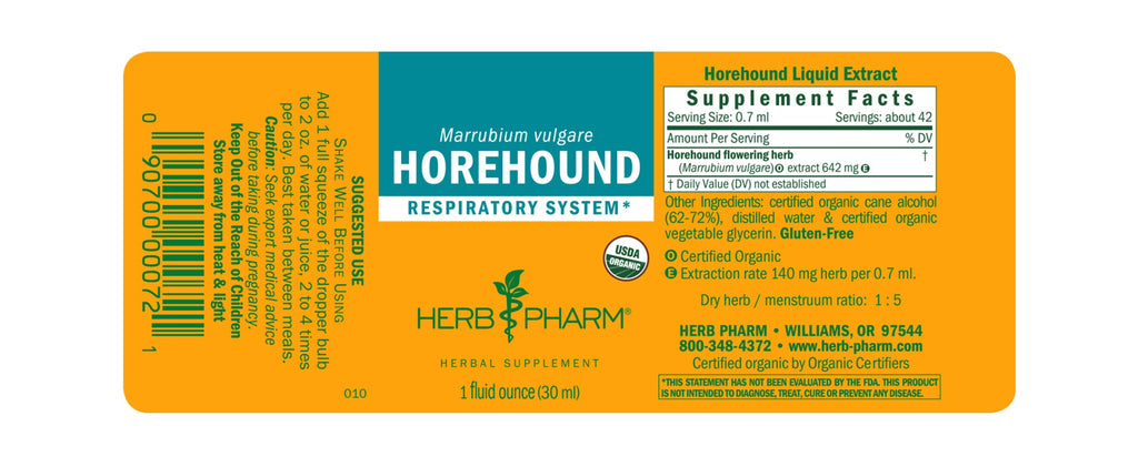 Herb Pharm® Horehound- 1oz - Christopher's Herb Shop
