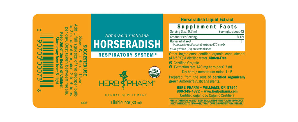 Herb Pharm® Horseradish - 1 oz - Christopher's Herb Shop