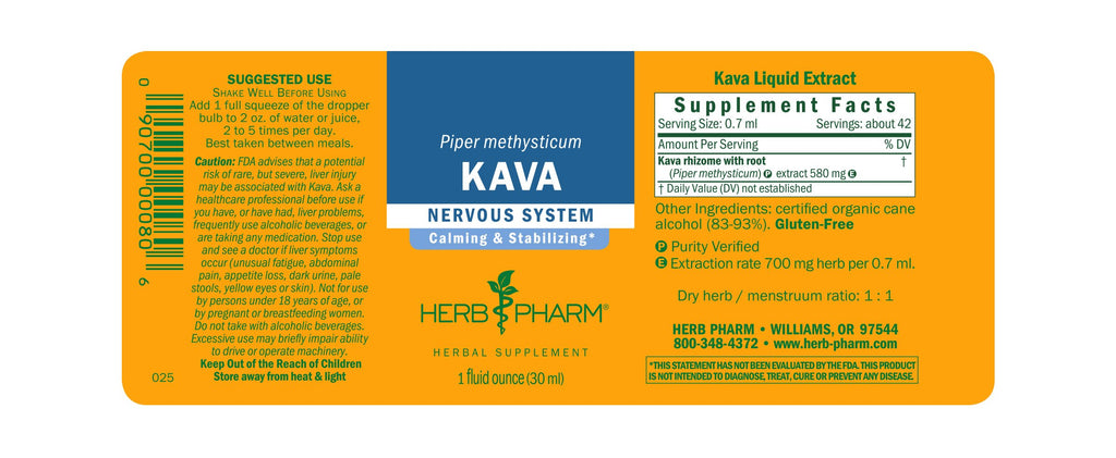 Herb Pharm® Kava Extract - Christopher's Herb Shop