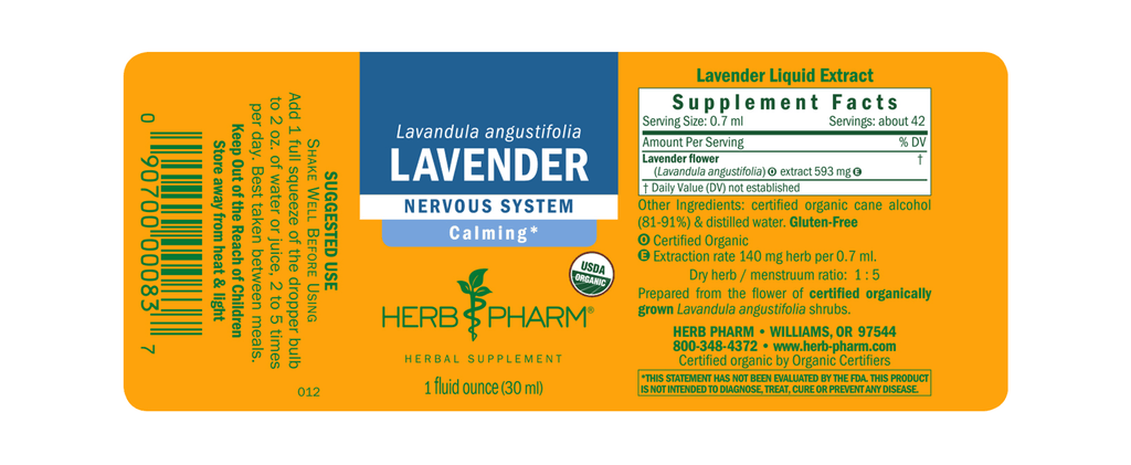 Herb Pharm® Lavender - 1 oz - Christopher's Herb Shop