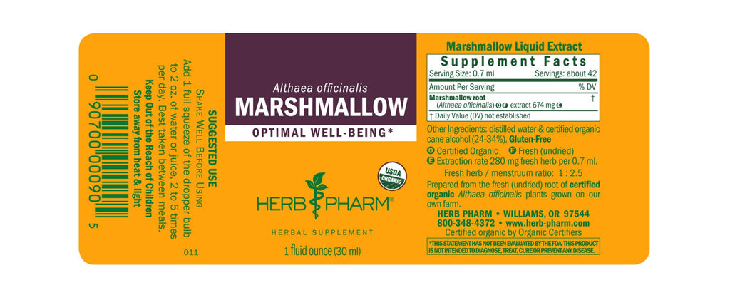 Herb Pharm® Marshmallow - 1 oz - Christopher's Herb Shop