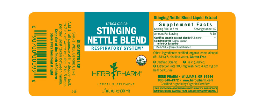 Herb Pharm® Stinging Nettle Blend - 1 oz - Christopher's Herb Shop